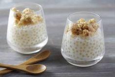 Découvrez cette recette de Crumble de tapioca au lait de coco expliquée par nos chefs