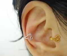 Essas Frescurites aí : DIY: Argola de orelha e trago de coração (Ear cuff & Tragus cuff)