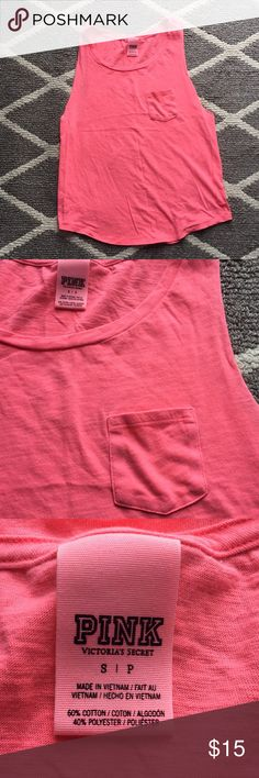 Victoria's Secret Pink Small tank Victoria's Secret Pink tank   Size: small Condition: preloved - no stains, no rips *wide arm holes *looks great with a bralette or sports bra   🏠all items come from a smoke free home PINK Victoria's Secret Tops