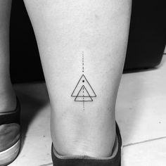 Tattoo design, triangle tattoos, geometric triangle tattoo, geometric t Line Art Tattoos, Mini Tattoos, Love Tattoos, Body Art Tattoos, Small Tattoos, Tattoos For Guys, White Tattoos, Ankle Tattoos, Arrow Tattoos