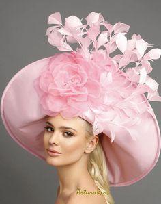 84c2f1c4670 Baby Pink derby hat couture derby hat kentucky derby hats Fascinator Hats