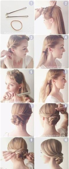 Hair Tutorials Diy Hair: Easy Bun Updos