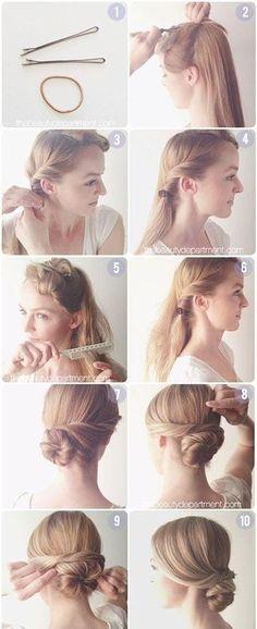 Hair Tutorials Diy Hair: Easy Bun Updos