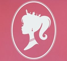 Princess Cameo Silhouette Decal