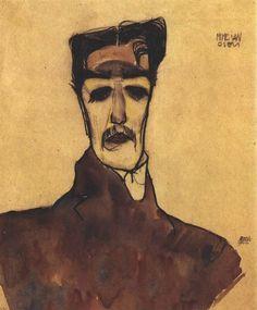 Egon Schiele - Mime van Osen, 1910