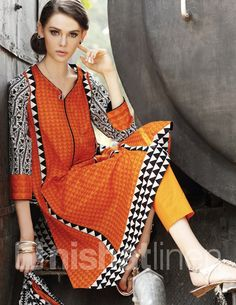 Latest Pakistani Summer Dresses for Women 2018 Casual Indian Fashion, Pakistani Fashion Party Wear, Pakistani Outfits, Hijab Fashion, Fashion Outfits, Eid Dresses For Girl, Summer Dresses For Women, Women's Dresses, Winter Dresses
