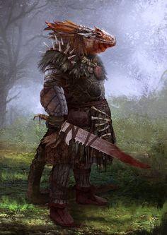 Resultado de imagem para lizardman wallpaper