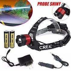 FlashlightMandy CREE XML T6 LED Focus Headlight Head Lamp Zoomable 2x18650 Battery Charger *** Want to know more, click on the image. #LightsandLanterns