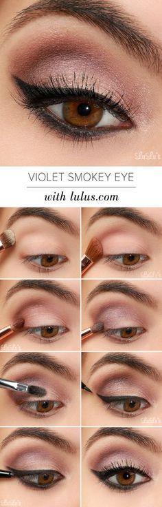 LuLu*s How-To: Violet Smokey Eye Makeup Tutorial   Lulus.com Fashion Blog   Bloglovin