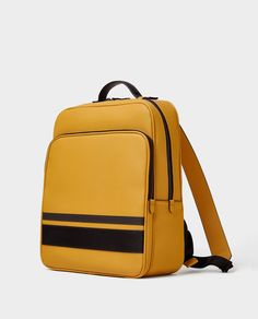 Image 1 of SMART YELLOW BACKPACK from Zara