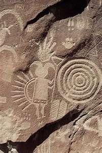 Petroglyphs of the native americans in Arizona