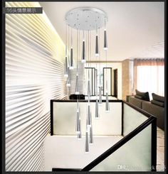 Modern Minimalist Fashion Creative Personality Led Cone Pendant Living Room Hotel Lobby Chandelier Dhl Meteor Shower Ceiling Pendant Pendant Lighting Fixtures From Luck1005, $115.58  Dhgate.Com