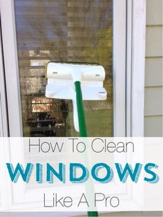 Tired of dirty windows? Try this easy tip to cleaning your windows like a pro.