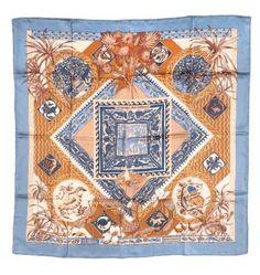"""Hermès scarf """"Le Jardin des Coptes', Laurence Bourthoumieux. 2004/05"""