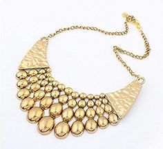 Metal Chunky Statement Pendant Necklace Bubble Bid Choker For Women Collar Necklace, Beaded Necklace, Pendant Necklace, Cheap Necklaces, Jewelry Necklaces, Jewellery, Bracelets, Fashion Necklace, Fashion Jewelry