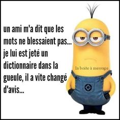 69 Ideas Funny Quotes Minions Words For 2019 Minions Images, Minions Quotes, Jokes Images, Minion Words, Minion Humour, Funny Minion, Love Memes For Him, Dont Hurt Me, Funny Love
