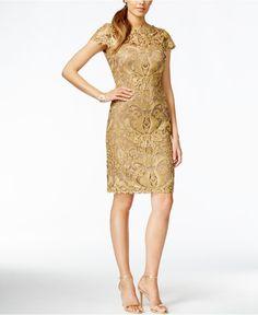 gold cap sleeve dress - Google Search