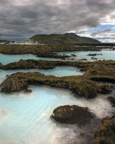 Iceland, the Blue Lagoon in foreground and Þorbjörn (mountain) in the background. South-west part of the island. Maciej Duczynski photography.