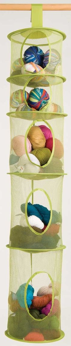 Hanging Mesh Organizer - IKEA Yarn, bolt ribbons Storaged
