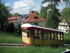 Karlsruhe, Germany -- cute college town in Southwest part of the country (near French border at Strasbourg).  We rode this tram to the top of a little mountain where there is a 13th Century tower with a view of the Rhine and France beyond. Turmbergbahn little tram to the big tower | Flickr - Photo Sharing!