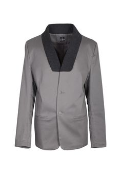 Moxos, Ray Dye, grey jacket. To download high or low resolution product images view Mondrianista.com (editorial use only). Gray Jacket, Editorial, Designers, Polish, Blazer, Blouse, Grey, Long Sleeve, Sleeves