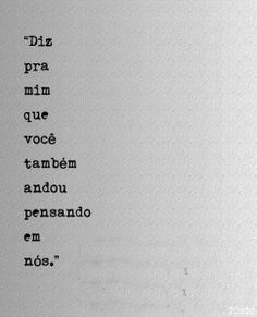 Amor,eu desisto. Desisto de ficar longe de você, de ter feito promessas estúpidas, de ter lutado tanto e agora não aproveitar a oportunidade, desisto de não viver essa história, desisto de não apr…