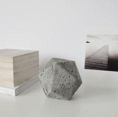 Geometric Concerete Paperweight #DIY | DesignSponge.com