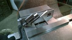 Drill a vise jaw bolt to accept 10/32, install repeatable angle stop
