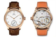 The new IWC Portuguese Hand-Wound Eight Days has all the unmistakable design cues of the IWC Portuguese family.