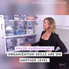 Khloe Kardashian is an organization professional. Watch this video to get endless tips for your space.