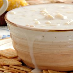 This clam chowder is so satisfying on a chilly day.. Clam Chowder Soup Recipe from Grandmothers Kitchen.
