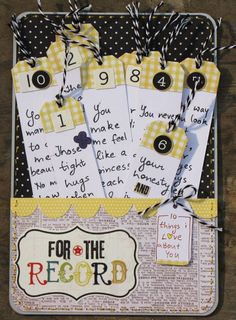 Handmade with Love: 10 things I love about you. Cute gift to make the kids for Valentine's Day.