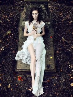 Whimsical Cemetery Photos - The Series Starring Natalia Andriyasova by Andrew Akimov is Enchanting
