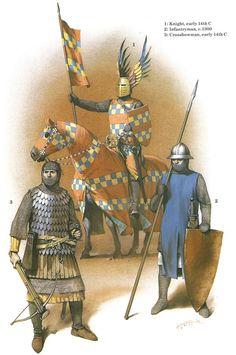 German Medieval Armies, 1300-1500 - German fighters, 14th C. Osprey Publishing
