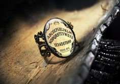 Ouija Board Halloween Glass Ring