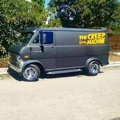 """The Creep Machine"" custom Ford van."