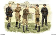 Foto 35027 oficiales soviéticos