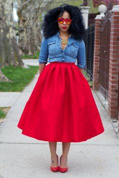 LOVE Wide Voluminous Midi Skirt Sale by tribalgroove on Etsy 192920f6cd89