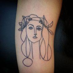 #picasso #picassotattoo #francoise #art #tattoo #tatuaje #arte #portrait #retrato #pablopicasso
