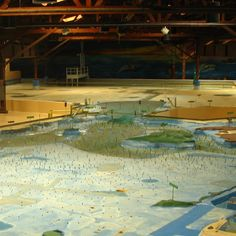 The San Francisco Bay Model was, like the Mississippi Basin Model and the Chesapeake Bay Model, built by the Army Corps of Engineers to study the flow of water. It is the only one still intact and functional.