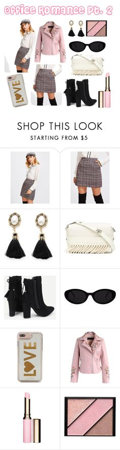 """Office Romance"" by lora-86 on Polyvore featuring 3.1 Phillip Lim, Edie Parker, Chicwish, Clarins and Elizabeth Arden"