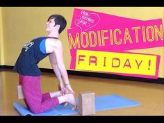 Modification Friday - Ustrasana Camel Yoga Pose - YouTube