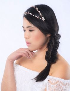 SPRING SALE bridal hair vine bridal by CharlotteFarrBridal on Etsy