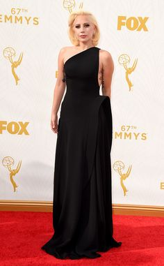 Lady Gaga in Brandon Maxwell at the 2015 Emmys