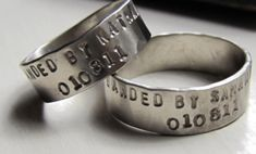Duck Band Wedding Rings