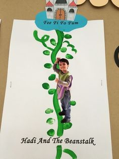 "Fee Fi Fo ""Thumb"" Can add cotton ball clouds Nursery Rhyme Crafts, Nursery Rhymes Preschool, Nursery Rhyme Theme, Fairy Tale Activities, Rhyming Activities, Book Activities, Fairy Tale Crafts, Fairy Tale Theme, Nursery Ryhmes"