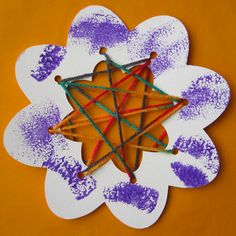 Was going to do sewing cards one of the Christmas break days.  Have the boys make the card first, etc.  This is a fun variation that could also be an ornament.  I will use cardstock or cardboard.  We'll see how difficult it is to hole punch.