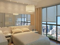 Apartamento 1 dormitório - vista quarto