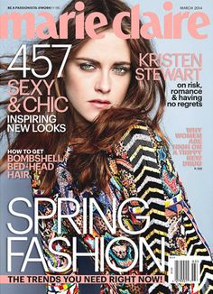 Kristen Stewart covers March 2014 issue of Marie Claire