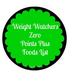 Weight Watchers Zero Points Foods - good list to have!